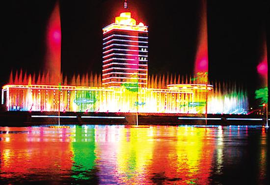 上海滨江喷泉_