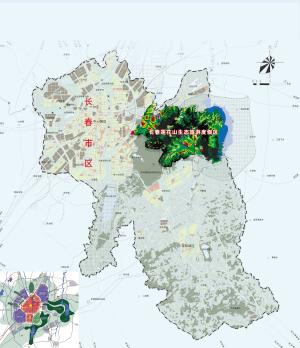 长春莲花山生态旅游度假区区域位置图